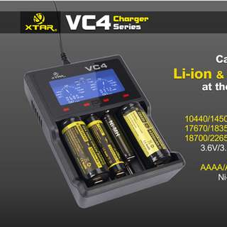 xtar vc4 li-on charger 4 slot brand new authentic