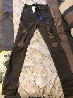High waisted skinny jeans size 7