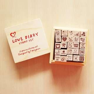 Love Diary Stamp