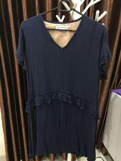 Preloved VGC Dress Navy Cottonink
