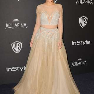 Kylie Jenner two piece formal gown