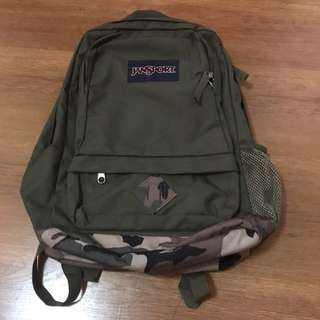 Jansport Green Military Backpack AUTHENTIC!