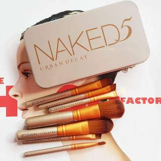 Naked 5 makeup brush set