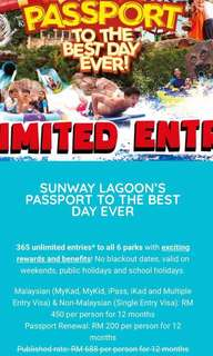 Sunway Lagoon Entrance Ticket