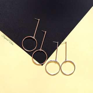 NEW! Mono Hoop Earrings (Silver/Gold)