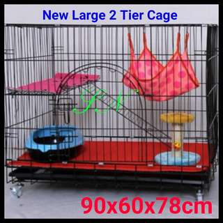 New 2 Tiers Large Pet / Cat cage Cheapest price in Singapore