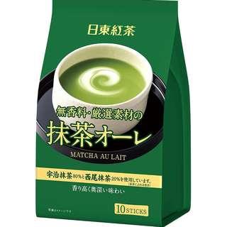 (全新訂購) 日本製造 日東紅茶 Matcha au lait  即沖抹茶歐蕾棒 10 條 (3 包裝)