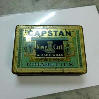 Capstan Navy Cut Medium Strength Cigarettes Tin Vintage