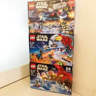 Lego 聖誕版 Starwars 全新3盒 75097 75146 75184