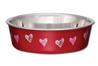 [Loving Pets] Red Hearts Dog Bowl