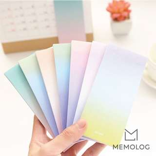 Gradient Rectangular Memo Pad Sticky Notes