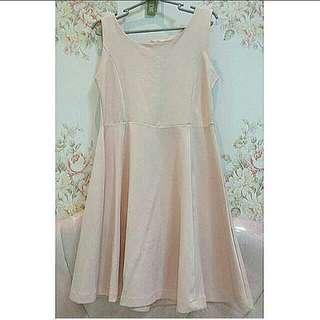Dress pastel pink cewek