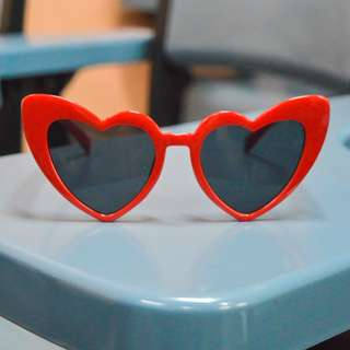 Brand New Heart-shaped Sunglasses in Red