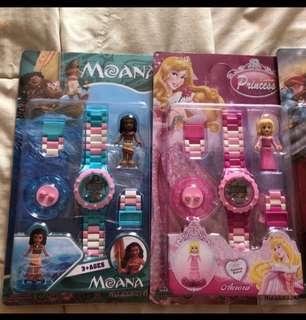 Kids Watch (Disney Princess / Moana / Iron Man)