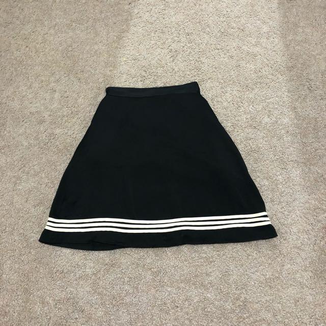 A line high waisted satin skirt
