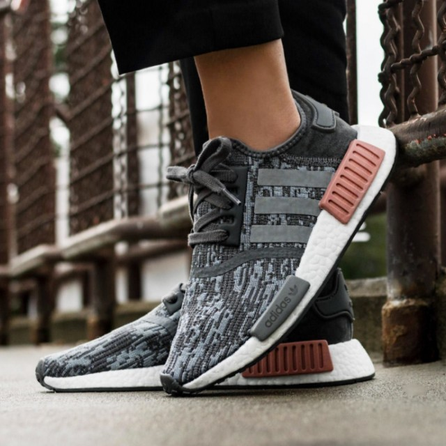 top fashion e94bc aa1ff Adidas NMD R1 Raw Pink and Grey, Women's Fashion, Shoes on ...