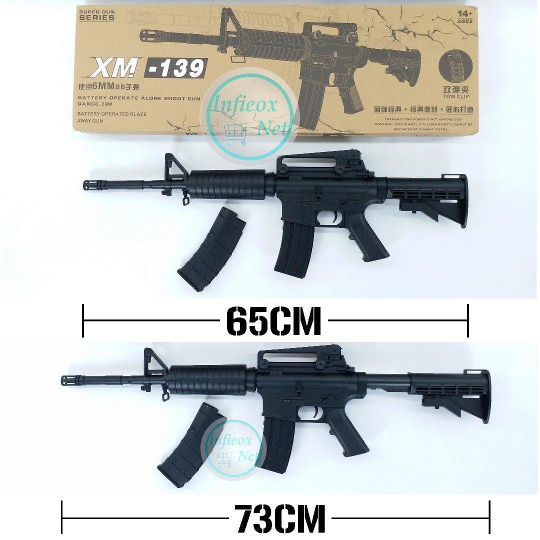 ⚠TEMPORARY OUT OF STOCK⚠ Airsoft Electric BB Gun M4(M16) Carbine ...