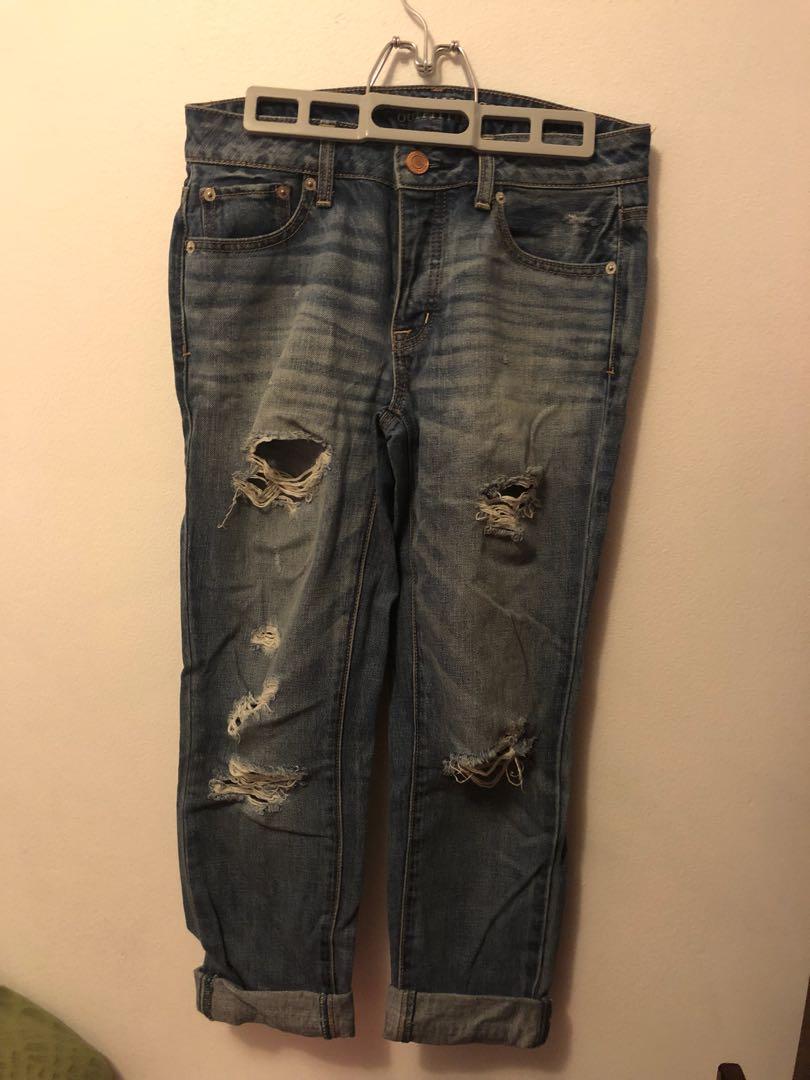 American eagle boy crop jeans