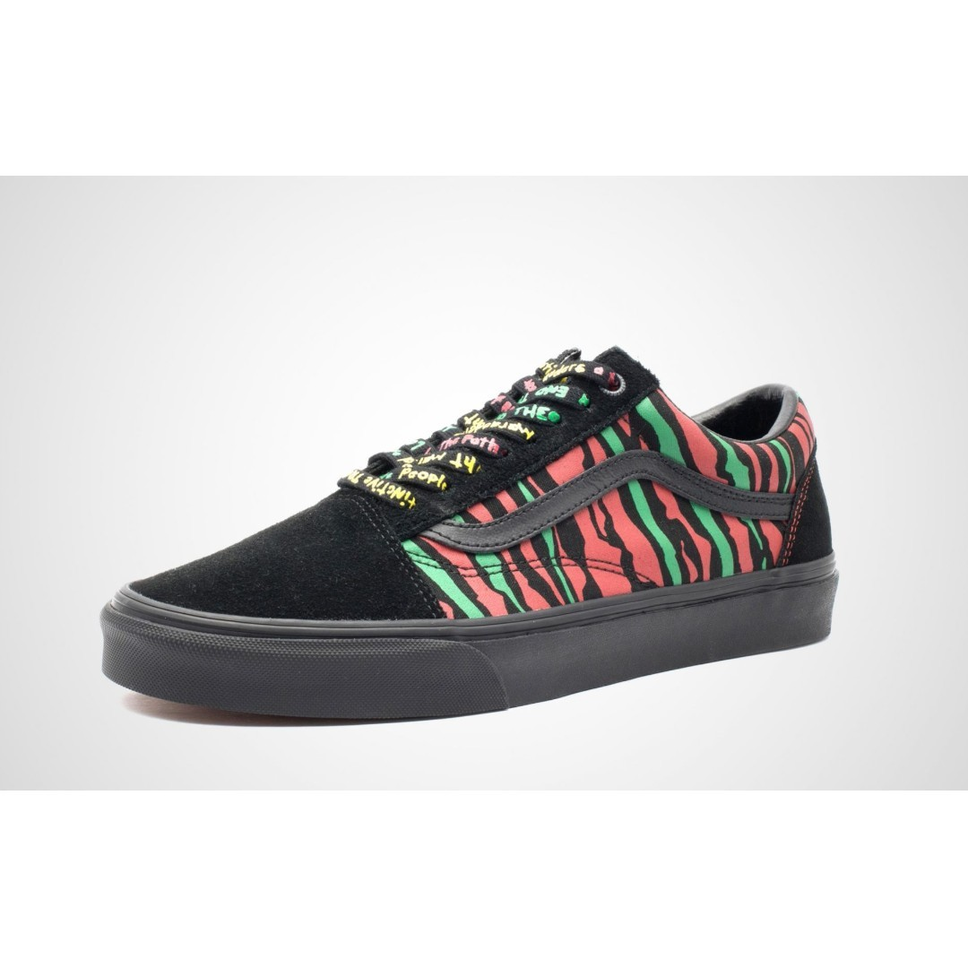 509314f0435 Authentic VANS X A TRIBE CALLED QUEST OLD SKOOL Black   Multi