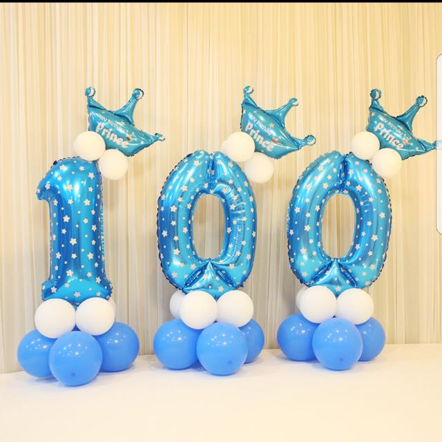 Birthday Party Blue 1 Balloon Baby Boy Year Old Babies Kids On