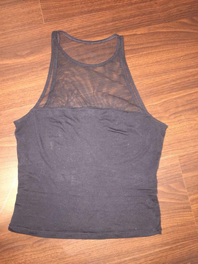 Black mesh garage top