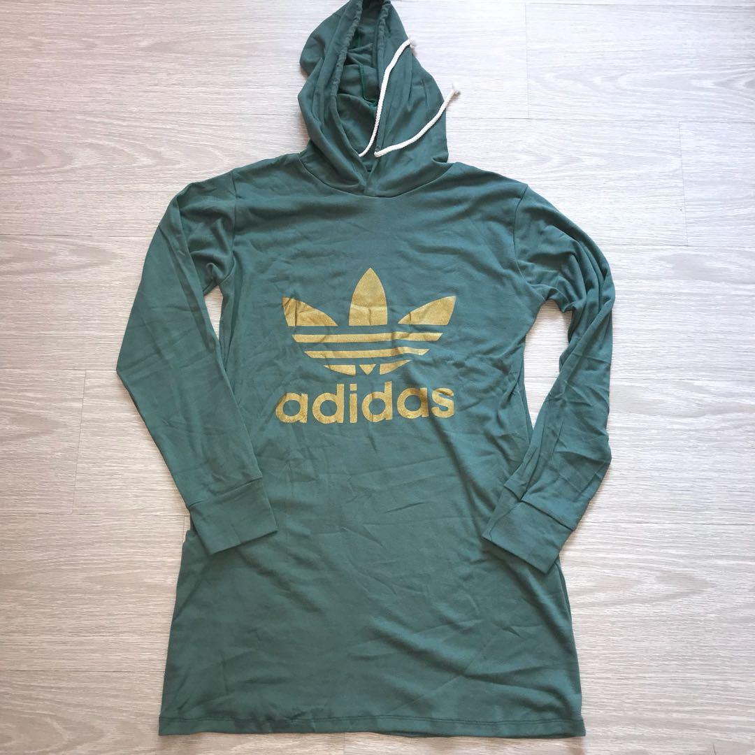 70452dceb3e4df Dress Women's Clothes Brand Hoodie Green Adidas Fashion New H7wgqa