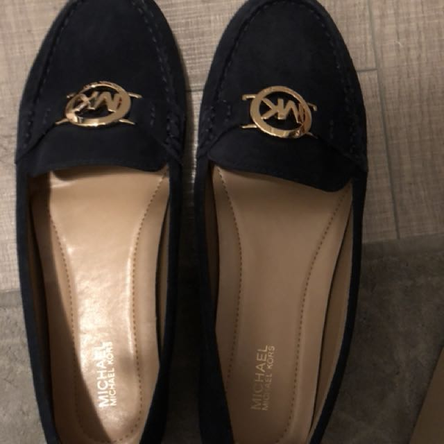 Brand new MK loafers size 8, navy blue
