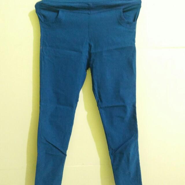 Celana Semi Jeans Wanita Women S Fashion Women S Clothes