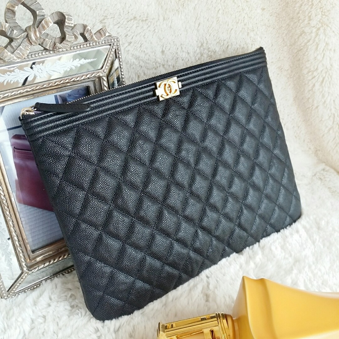 0aae1d109040 Chanel Boy O'Case Clutch, Luxury, Bags & Wallets on Carousell