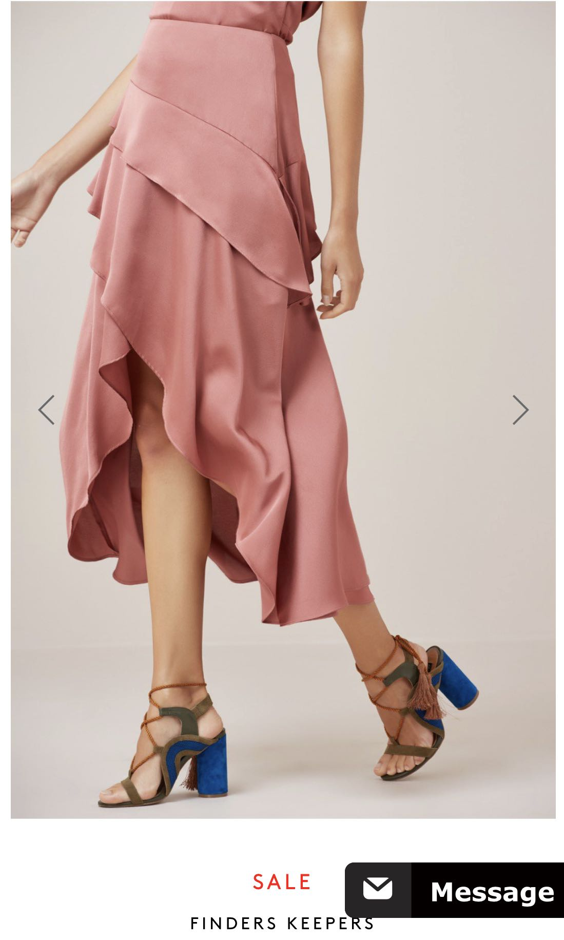 Finders keepers - seasons skirt in soft mauve size S
