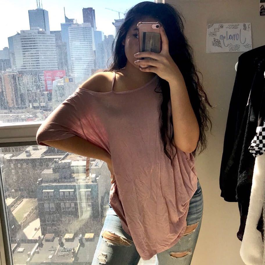 Flowy Cut Out Pink Top