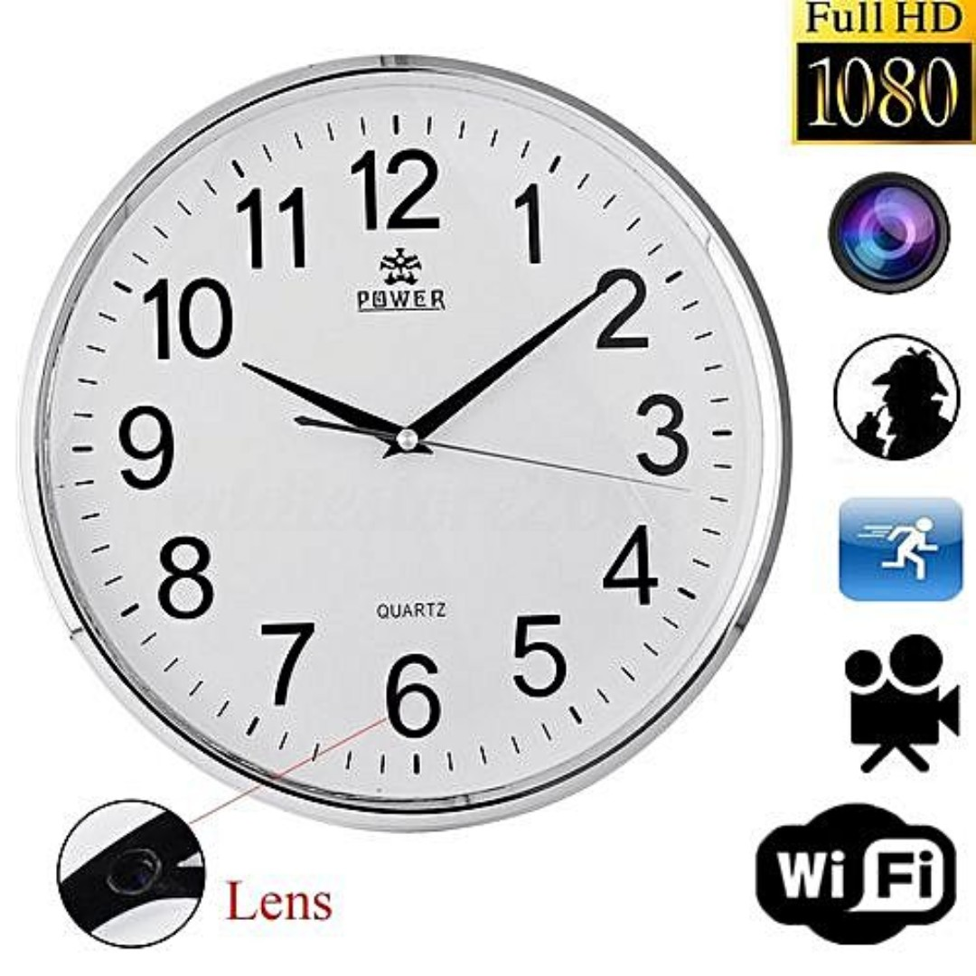 2caf4fb44a71 Home Security IP P2P WiFi Wall Clock Hidden Spy Camera For Home ...