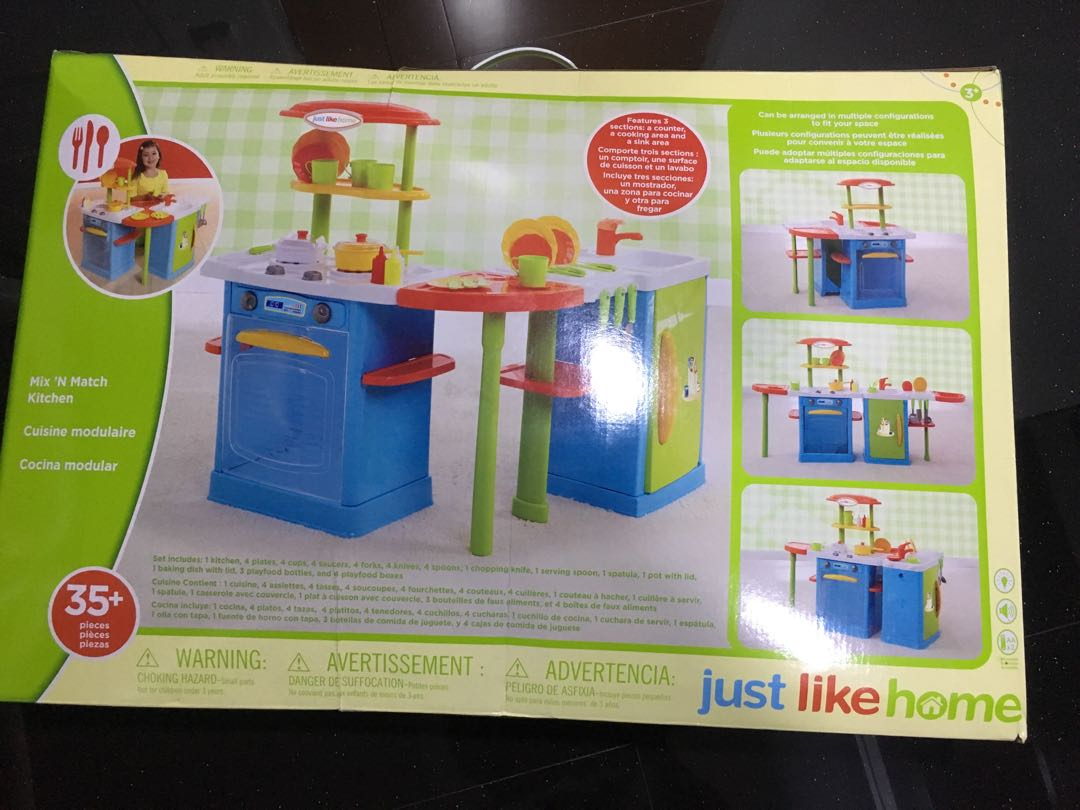 Just Like Home Toy Set : Just like home kitchen set babies & kids toys & walkers on carousell