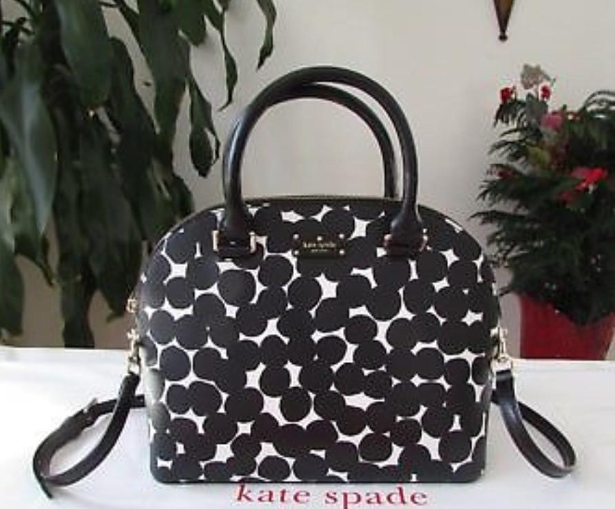 Kate Spade Grove Street Carli Leather Crossbag Purse Satchel ... faa5842f1ff9a