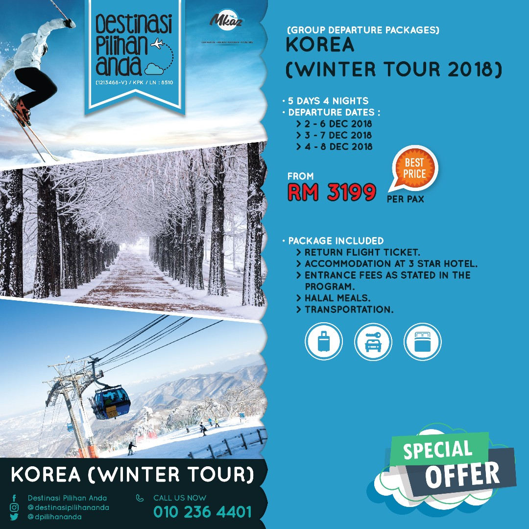 Korea Winter Tour 2018 Tickets Vouchers Attractions On Package 4d3n Photo