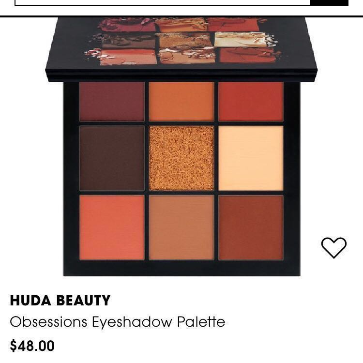 NEW Hudabeauty Warm Brown Obsessions Eyeshadow Palette