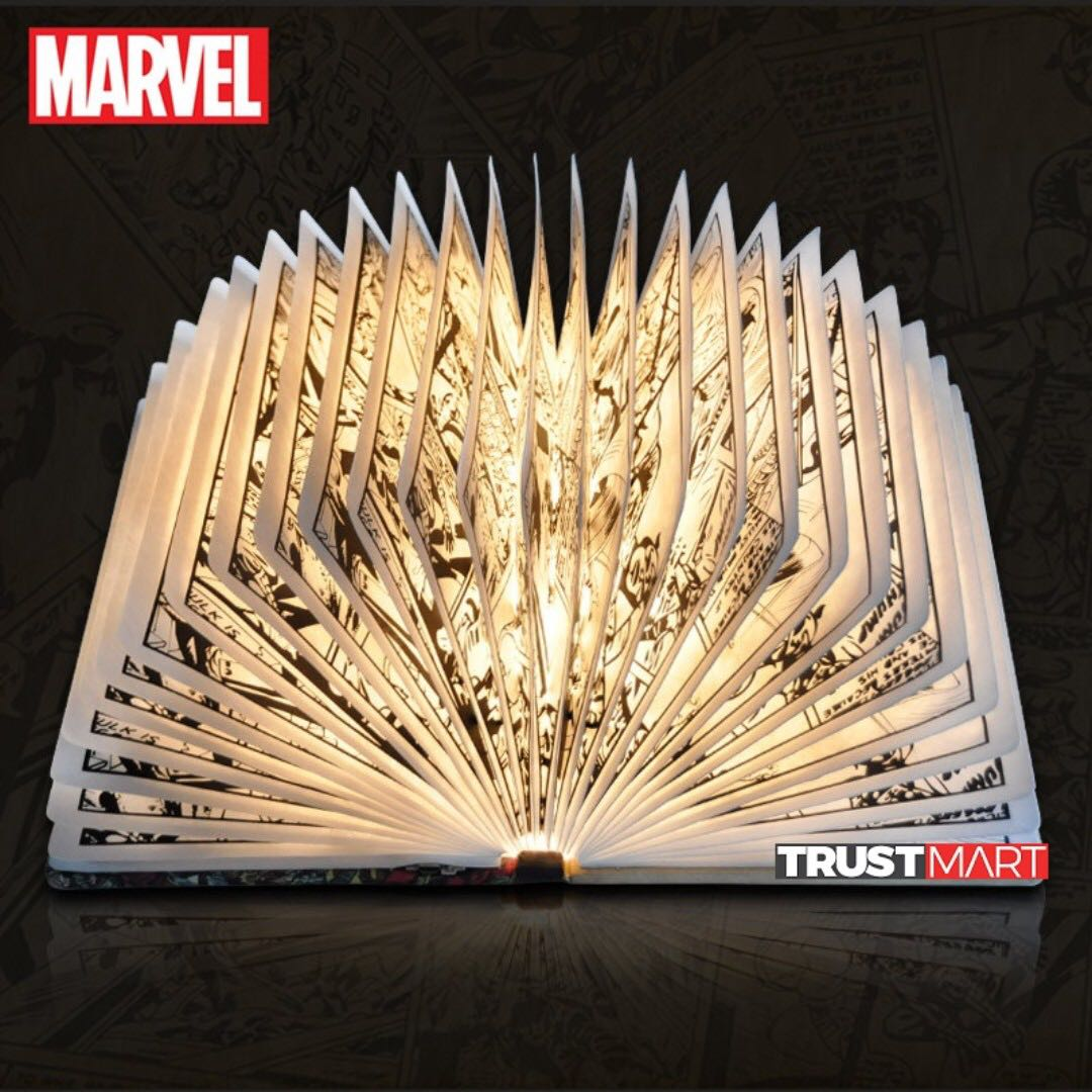 Original Marvel LED Light Comic Book Table Wall Mounted Lamp ...