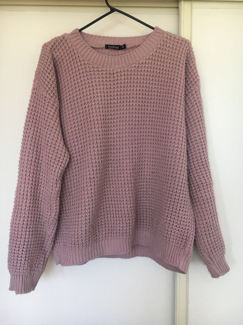 Oversized jumper mauve