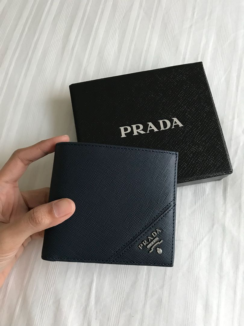 5b632eda429d Prada Men Wallet , Men's Fashion, Bags & Wallets on Carousell