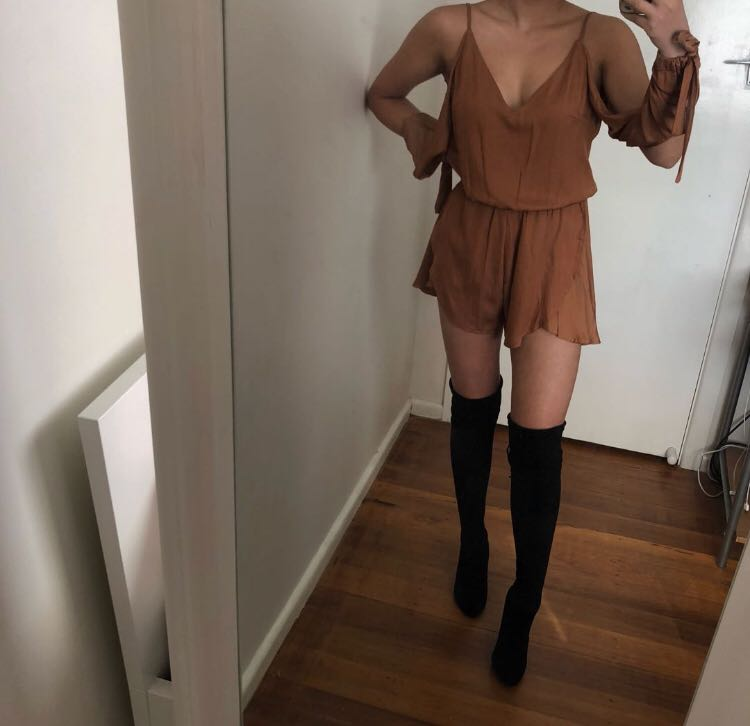 Princess Polly Tan Playsuit