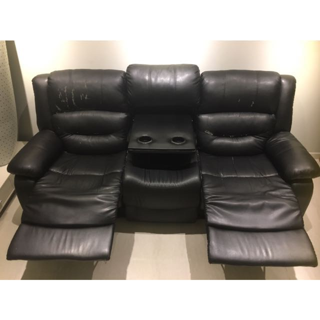 Pu Leather Recliner Sofa Furniture Sofas On Carousell