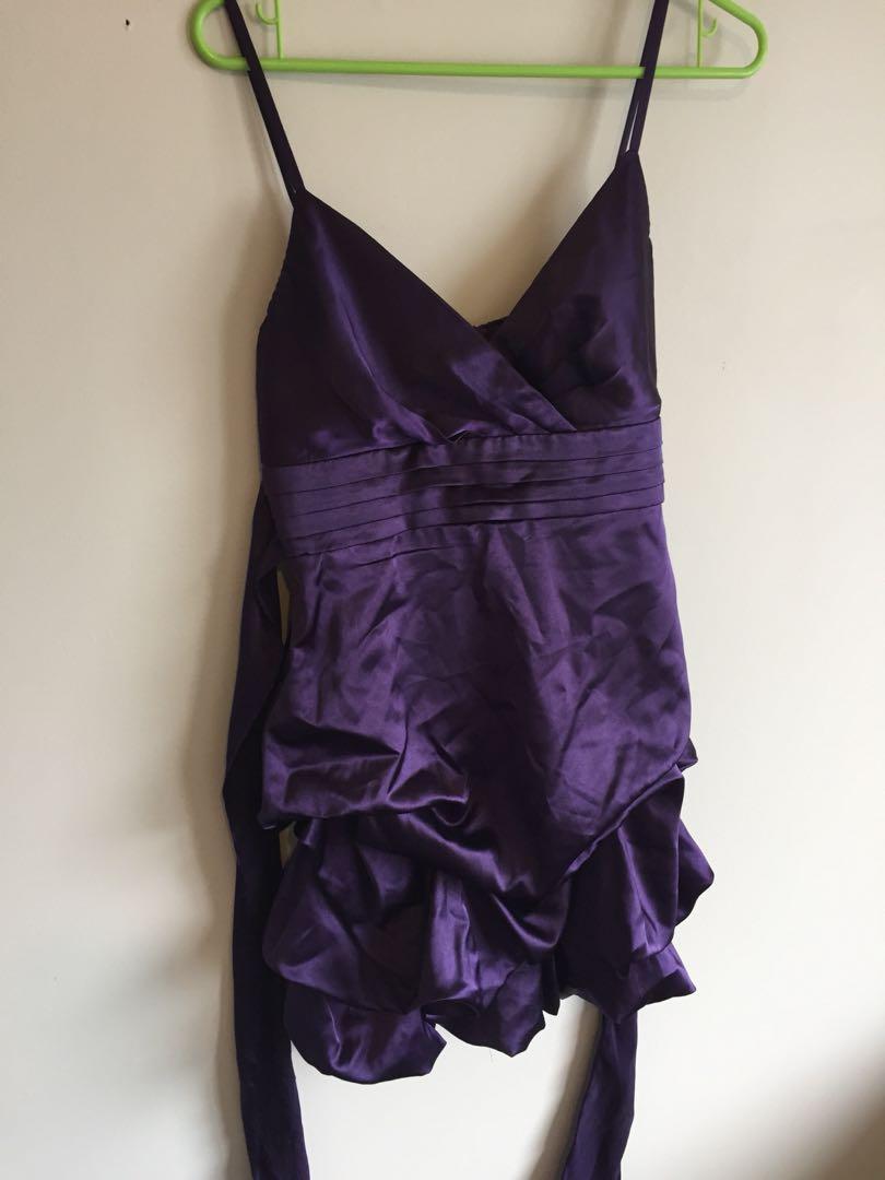 Purple dress size 10