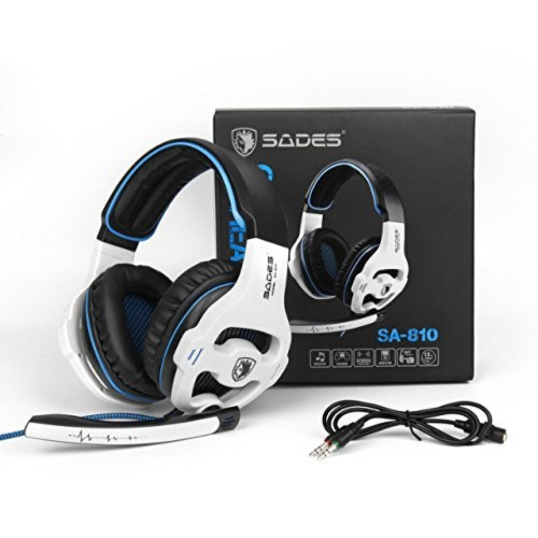SADES SA810 New Updated Xbox One mic PS4 Headset Over Ear