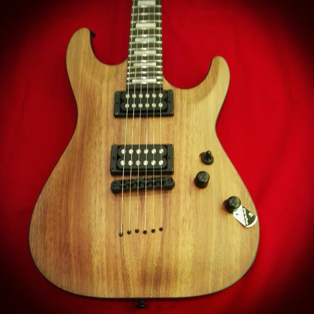 Schecter C-1 Koa Natural Satin
