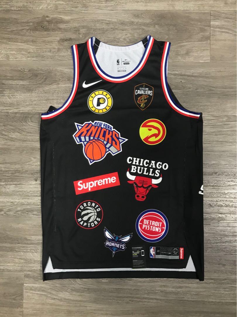 547f4c20ea0 Supreme X NBA X NIKE Jersey black (large)