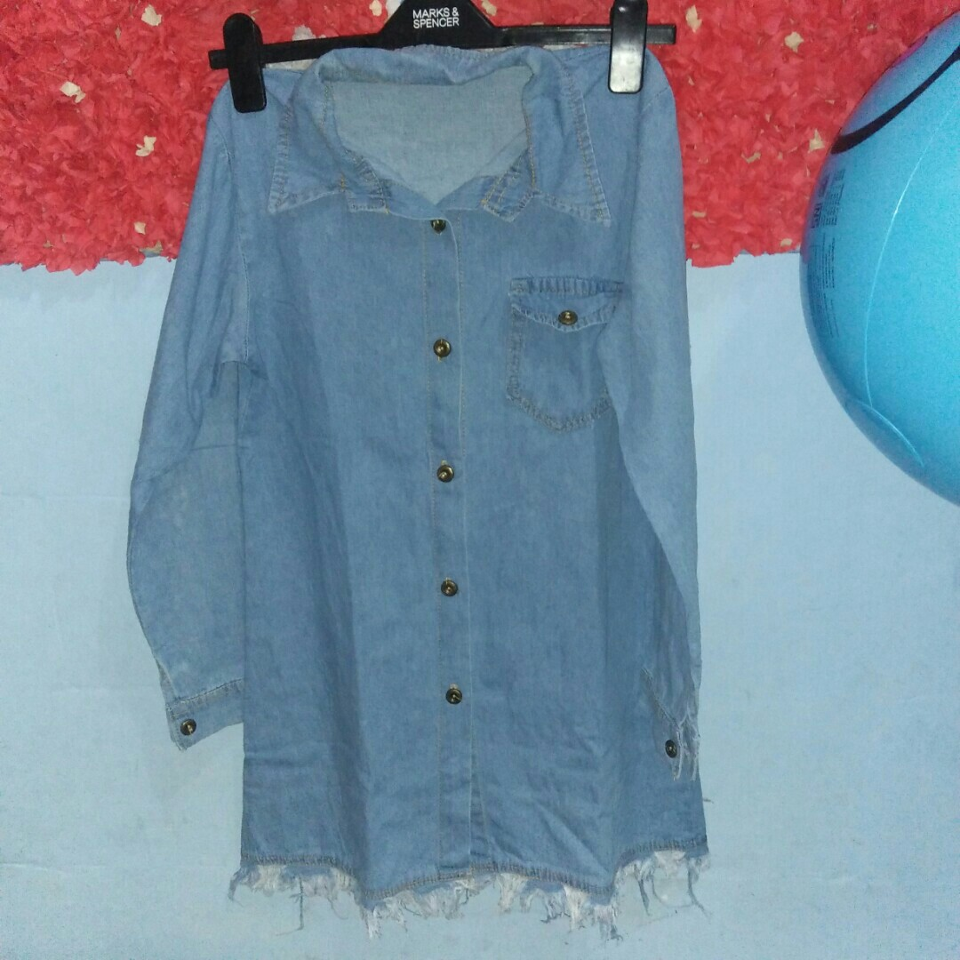 Tunik/minidress semi jeans tebel