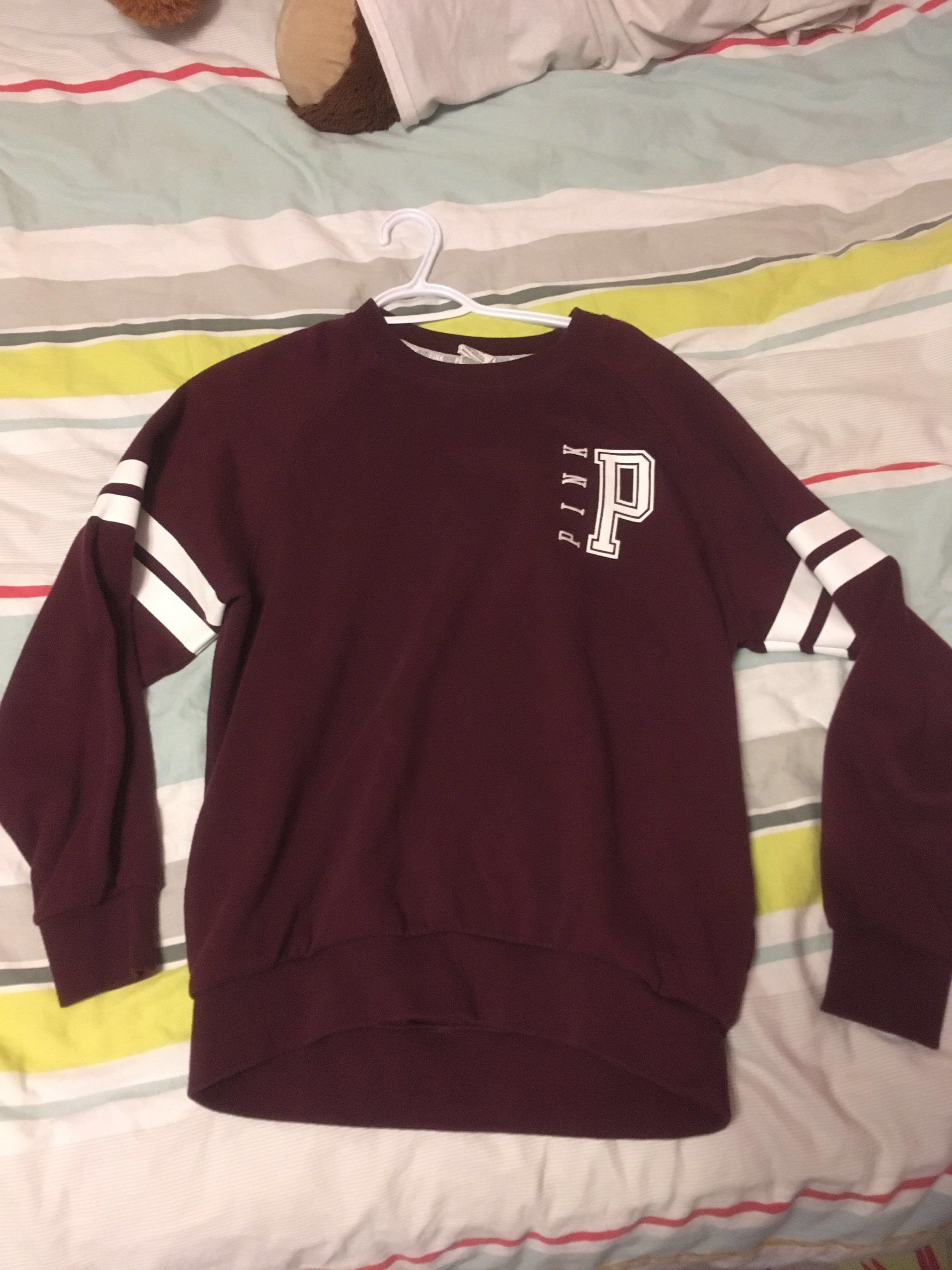 XS Pink burgundy sweatshirt