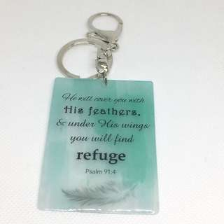 Psalm 91 keychain / customised bible verses