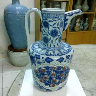 Ceramic Porcelain Ewer Antique Antik 14