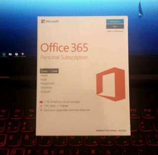 Microsoft 1 Year Office 365 Personal Subscription